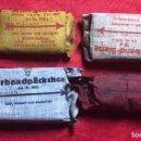 Militaria: LOTE DE 4 MODELOS DISTINTOS DE PAQUETES DE VENDAS ALEMANAS DEL TERCER REÍCH, ORIGINALES DE ÉPOCA.. Lote 161307538
