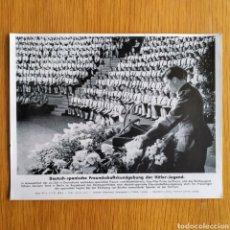 Militaria: FOTOGRAFIA - 1943 DIVISION AZUL - PROPAGANDA - JUVENTUDES HITLERIANAS SECCION FEMENINA. Lote 161888082