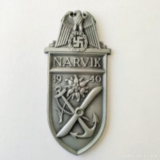 Militaria: ORIGINAL!! - PLACA DISTINTIVO DE CAMPAÑA DE NARVIK - NARVIKSCHILD - EMBLEMA. Lote 162634950