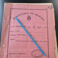 Militaria: WW2. ACORAZADO GRAF SPEE. EXPEDIENTE MEDICO MARINERO PAUL SCHENKEL.. Lote 165621462