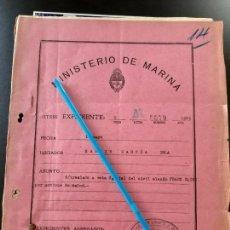 Militaria: WW2. ACORAZADO GRAF SPEE. TRASLADO PRISIONERO ALEMAN FRANZ KLINK. Lote 165621838