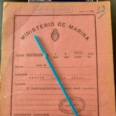 Militaria: WW2. ACORAZADO GRAF SPEE. LICENCIA A PRISIONERO ALEMAN. Lote 165622058