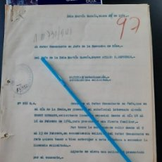 Militaria: WW2. ACORAZADO GRAF SPEE. LICENCIA PARA FIESTA FAMILIAR. Lote 165623690