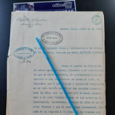 Militaria: WW2. ACORAZADO GRAF SPEE. PERMISO DE 14 DIAS MARINEROS ALEMANES. Lote 165624006