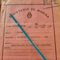 Militaria: WW2. ACORAZADO GRAF SPEE. HOSPITALIZACION PETERS HERBERT. Lote 165625294