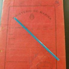 Militaria: WW2. ACORAZADO GRAF SPEE. REGRESO FALLIDO DE PERMISO. Lote 165625822
