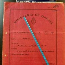 Militaria: WW2. ACORAZADO GRAF SPEE. HOSPITALIZACION ERNEST MARQUARD. Lote 165627046