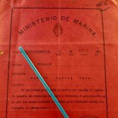 Militaria: WW2. ACORAZADO GRAF SPEE. PERMISO VISITA NOVIA. Lote 165627334