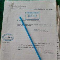 Militaria: WW2. ARGENTINA. INFORMES 30 PAGINAS CAMPAÑAS NORUEGA, POLONIA, AVIACION Y MAPAS. 1940. Lote 165838938