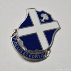Militaria: INSIGNIA PLATA MACIZA Y ESMALTES.113 REGIMIENTO DE INFANTERIA DE ESTADOS UNIDOS.2ª GUERRA MUNDIAL.. Lote 152143138