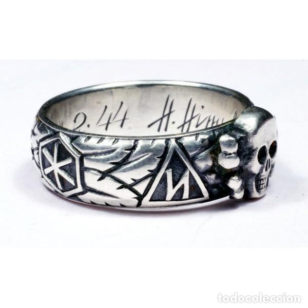 Militaria: ANILLO DE HONOR SS «Totenkopf»( plata) talla-12 - Foto 9 - 206277377