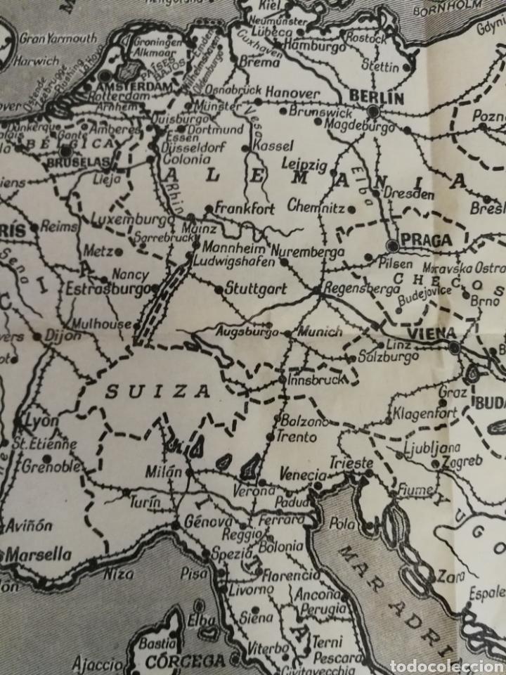Militaria: Teatros de la guerra en Europa WWII SEGUNDA II GUERRA MUNDIAL, mapa. Suplemento de Por Avión. - Foto 5 - 176150499
