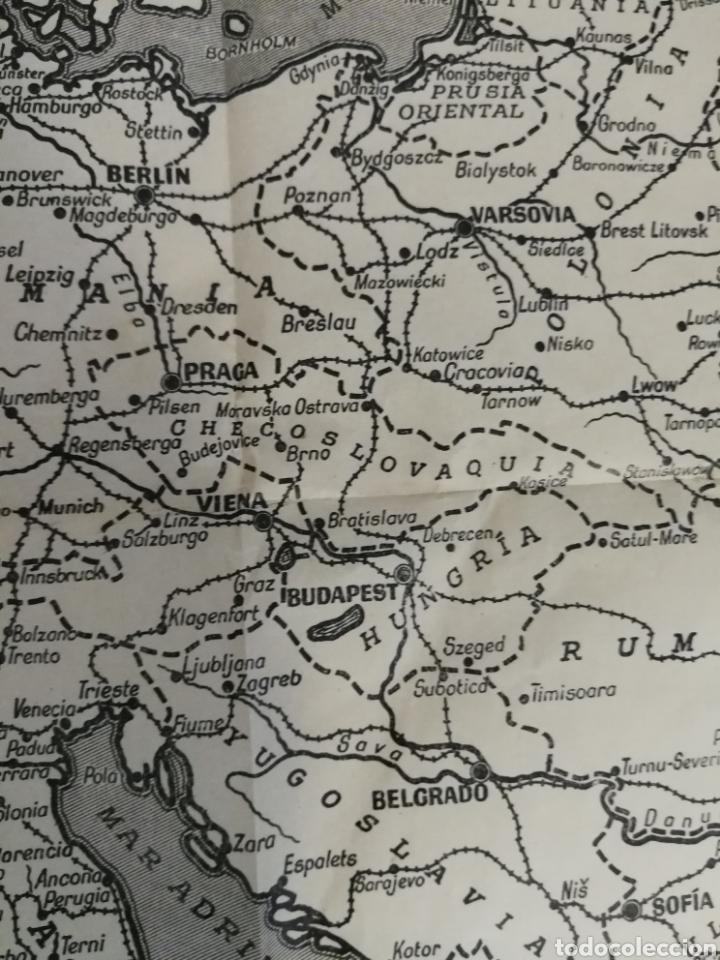 Militaria: Teatros de la guerra en Europa WWII SEGUNDA II GUERRA MUNDIAL, mapa. Suplemento de Por Avión. - Foto 6 - 176150499