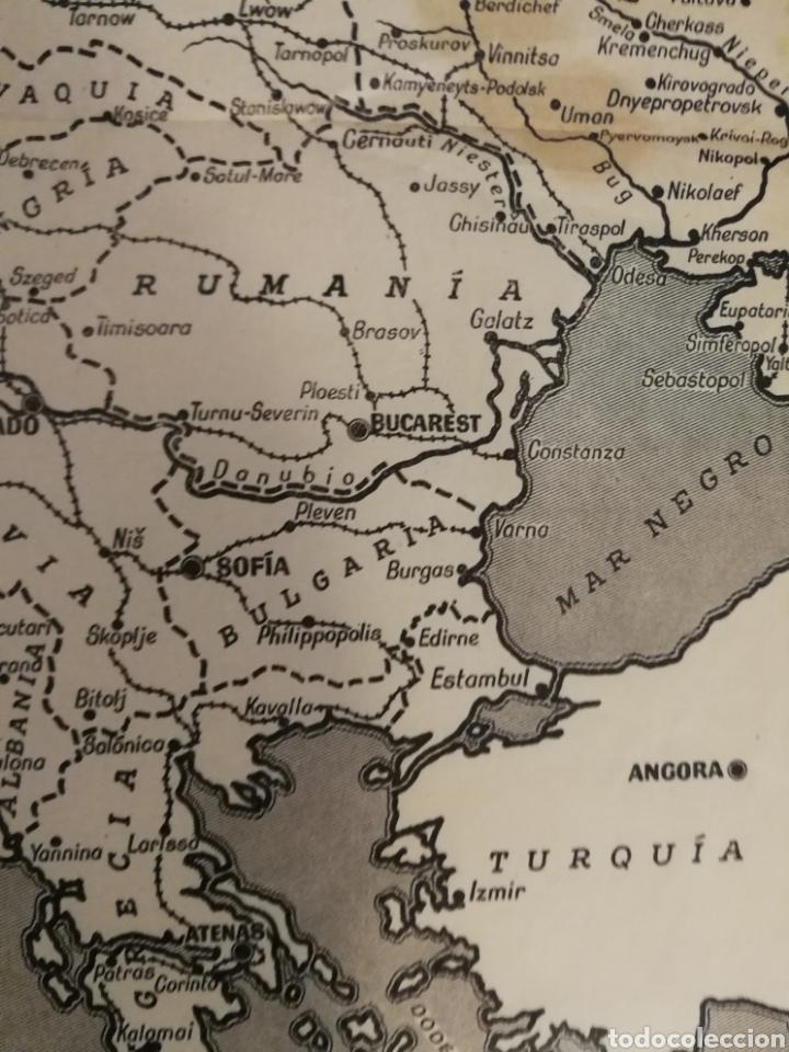 Militaria: Teatros de la guerra en Europa WWII SEGUNDA II GUERRA MUNDIAL, mapa. Suplemento de Por Avión. - Foto 7 - 176150499
