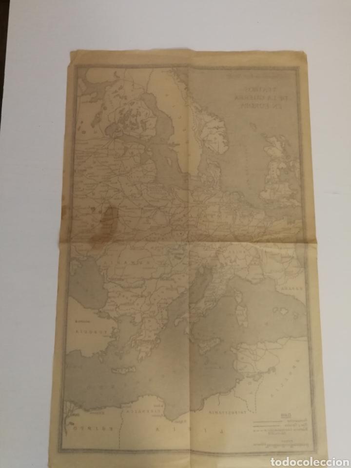 Militaria: Teatros de la guerra en Europa WWII SEGUNDA II GUERRA MUNDIAL, mapa. Suplemento de Por Avión. - Foto 11 - 176150499