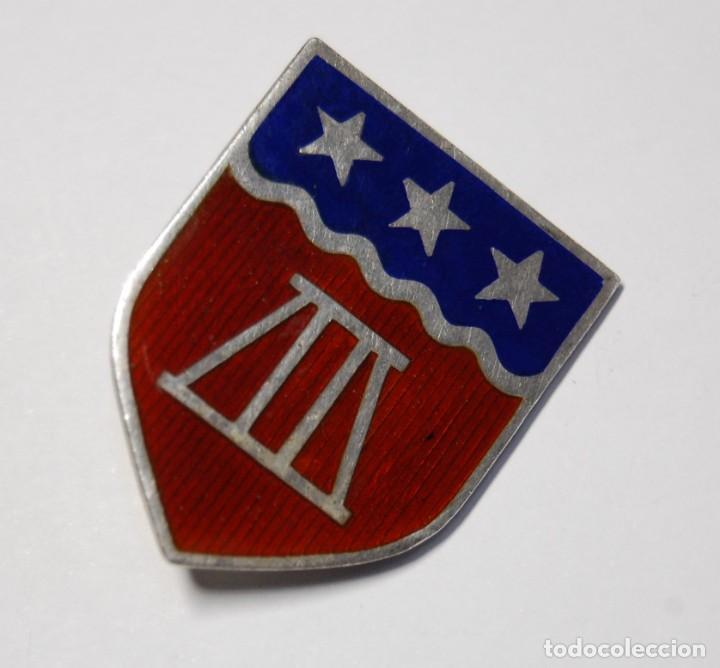 INSIGNIA DE PLATA Y ESMALTES.303 BATALLON DE INGENIEROS DE LOS ESTADOS UNIDOS.2ª GUERRA MUNDIAL. (Militar - II Guerra Mundial)
