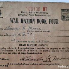Militaria: WW2. CARTILLA RACIONAMIENTO DE ESTADOS UNIDOS. Lote 167015412