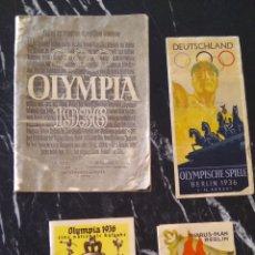 Militaria: LOTE OLIMPIADAS. Lote 168037812