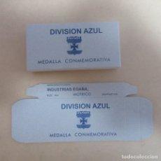 Militaria: CAJA MILITAR DIVISION AZUL PARA MEDALLA. Lote 168377972