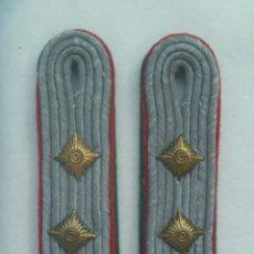 Militaria: DIVISION AZUL : PAR DE HOMBRERAS ALEMANAS USADAS POR DIVISIONARIO. DOBLE VIVO VERDE Y ROJO. Lote 168829644