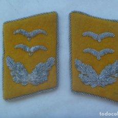 Militaria: DIVISION AZUL - ESCUADRILLA AZUL: PAR DE PARCHES DE CUELLO DE LA LUFTWAFFE. USADOS POR DIVISIONARIO. Lote 168937664