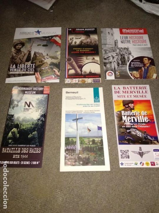 FOLLETOS DE MUSEOS DE LA SEGUNDA GUERRA MUNDIAL EN NORMANDÍA (Militar - II Guerra Mundial)