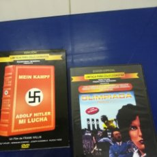 Militaria: LOTE III REICH DOBLE DVD OLIMPIADA DE LENI RIEFENSTAHL Y ADLOF HITLER MI LUCHA DE FRANK WILLIS. Lote 171326990