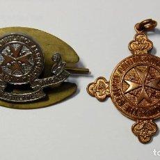 Militaria: DISTINTIVOS METALICOS DE ENFERMERAS DE AMBULANCIAS DE ST.JOHN DE REINO UNIDO 2ª GUERRA MUNDIA. Lote 171474667