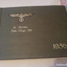 Militaria: ALBUM FOTOGRAFÍA ALEMÁN 1936 MILITAR. Lote 171688389