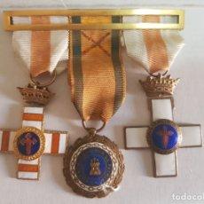 Militaria: LOTE 3 MEDALLAS SUBOFICIAL (DEV) DIVISIÓN AZUL CON PASADOR PECHO. Lote 173189310