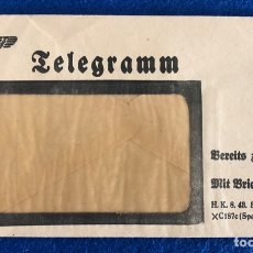 Militaria: SOBRE DE TELEGRAMA ALEMÁN ORIGINAL , ÉPOCA TERCER REÍCH. Lote 174496550