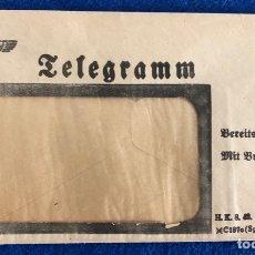 Militaria: SOBRE DE TELEGRAMA ALEMÁN ORIGINAL , ÉPOCA TERCER REÍCH . Lote 174496579