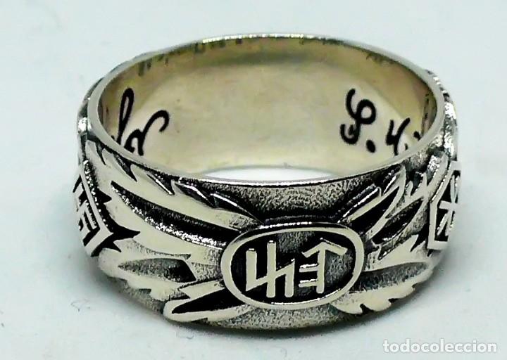 Militaria: ANILLO DE HONOR SS .Totenkopf( plata 925) talla-11 - Foto 4 - 174610745