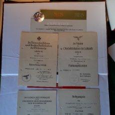 Militaria: WW2. ALEMANIA. III REICH. LOTE 4 DOCUMENTOS DE CONCESION. CON CERTIFICADO DE AUTENTICIDAD. Lote 175491813
