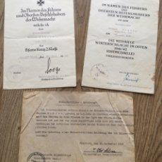 Militaria: LOTAZO CRUZ DE HIERRO CRUZ CABALLERO HOJAS ROBLE,OSTMEDAILLE.CERCO DE VITEBSK 1944.TOP!!!. Lote 175686554