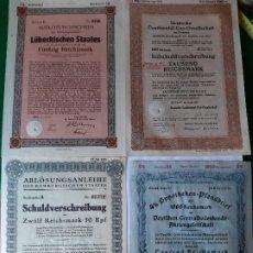 Militaria: WW2. ALEMANIA. LOTE 4 DOCUMENTOS BANCARIOS REICH. Lote 175692795