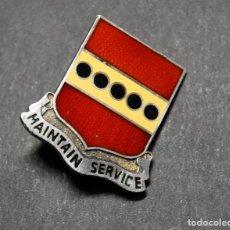 Militaria: INSIGNIA DE PLATA MACIZA DEL 305º REGIMIENTO DE ARTILLERIA DE ESTADOS UNIDOS.SEGUNDA GUERRA MUNDIAL.. Lote 179376673