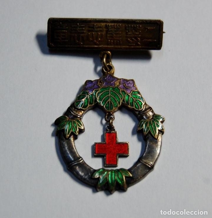 Militaria: MEDALLA DE PLATA DE LA CRUZ ROJA DE JAPON.AL MERITO DE LAS ENFERMERAS DE 2ª CLASE.2ª GUERRA MUNDIAL - Foto 2 - 180889971