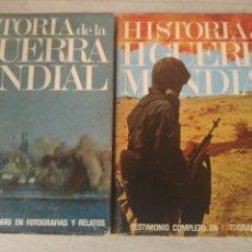 Militaria: HISTORIA DE LA SEGUNDA GUERRA MUNDIAL EDITORIAL AURA 1969 TOMOS I Y II. Lote 182723220
