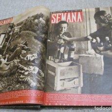 Militaria: REVISTA SEMANA 19 NÚMEROS DE 1941 Y 1942 ENCUADERNADOS, DIVISIÓN AZUL, SEGUNDA GUERRA MUNDIAL. Lote 182832323