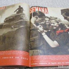 Militaria: REVISTA SEMANA 19 NÚMEROS DE 1940 Y 1941 ENCUADERNADOS, DIVISIÓN AZUL, SEGUNDA GUERRA MUNDIAL. Lote 182837752