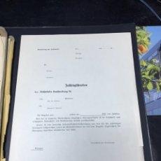 Militaria: FOLIO EN BLANCO AVIACION LUFTWAFFE ALEMANA III REICH II GUERRA MUNDIAL. Lote 183412182