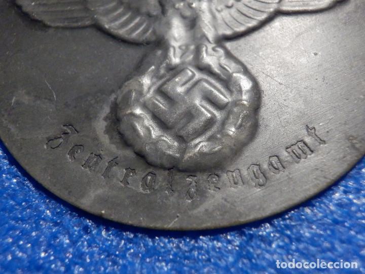 Militaria: Placa identificativa uniforme - Alemania NAZI - Nacional Socialista - Metálica N° 5 - Foto 3 - 183611455