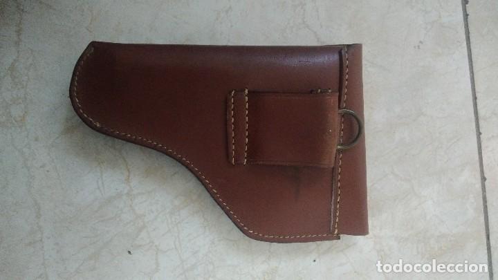 Militaria: Funda pistola de cuero marron - Foto 2 - 183665498