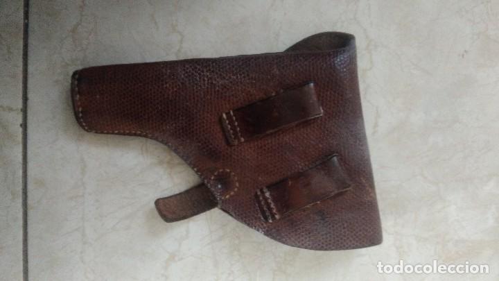 Militaria: Funda de cuero marron para pistola - Foto 3 - 183665731