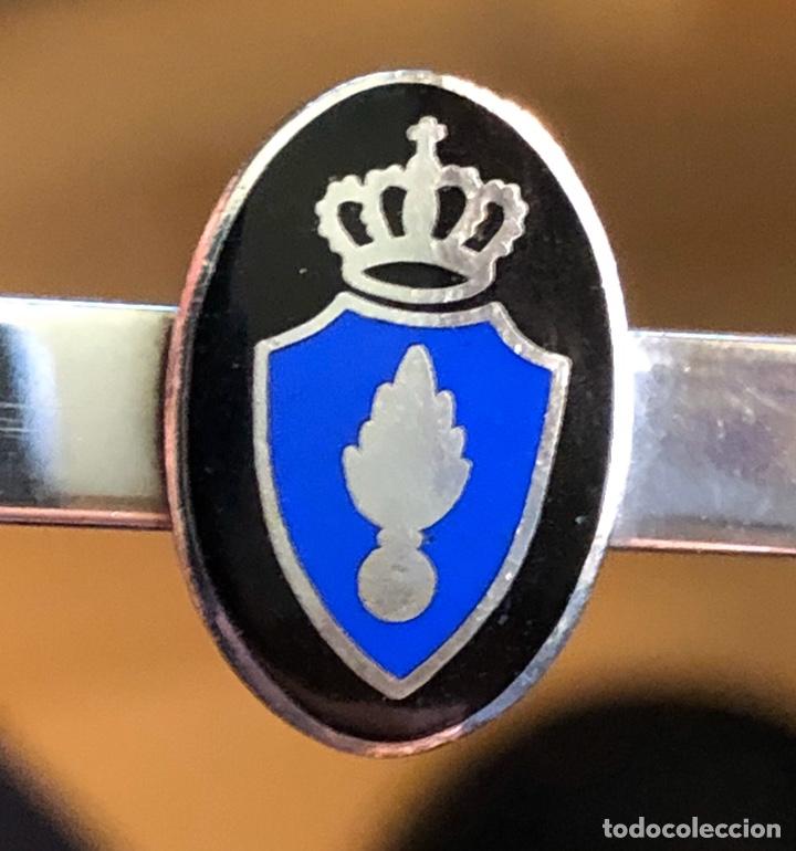 PLATA - ANTIGUO ALFILER CORBATA 1942 - OFICIAL HOLANDÉS GRANADEROS WWII (Militar - II Guerra Mundial)