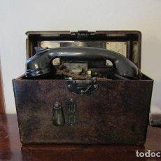 Militaria: ANTIGUO TELÉFONO MILITAR DE CAMPAÑA ALEMÁN USADO POR LA WEHRMACHT EN LA II SEGUNDA GUERRA MUNDIAL. Lote 186089072