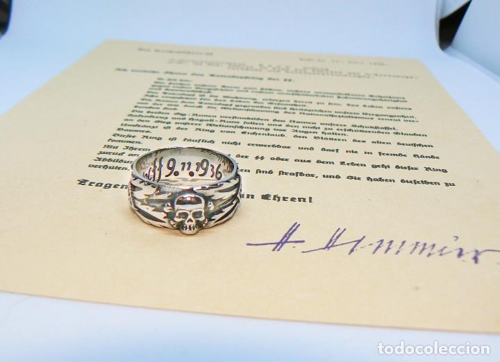 Militaria: ANILLO DE HONOR SS .Totenkopf( plata 925) talla-12 - Foto 6 - 207910895