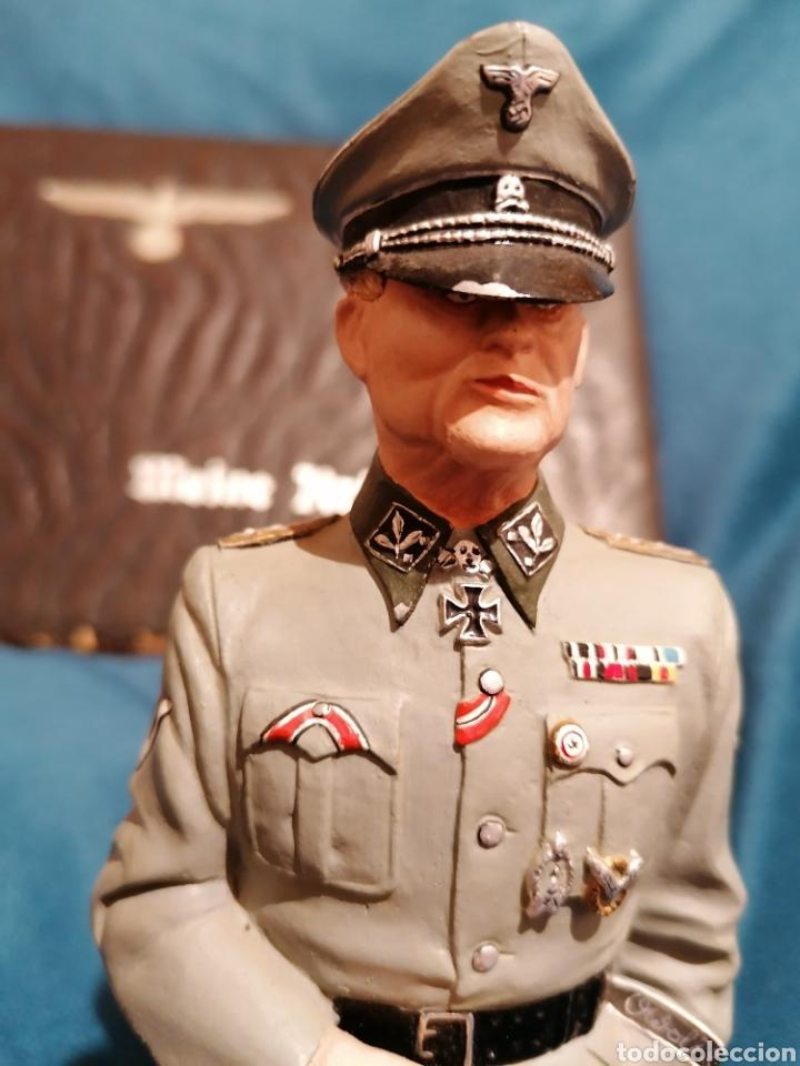 Militaria: GRAN FIGURA DE PLOMO OFICIAL ALEMAN DE LAS SS. WWII. FIRMADA DE PRADO 91 - Foto 2 - 189295441