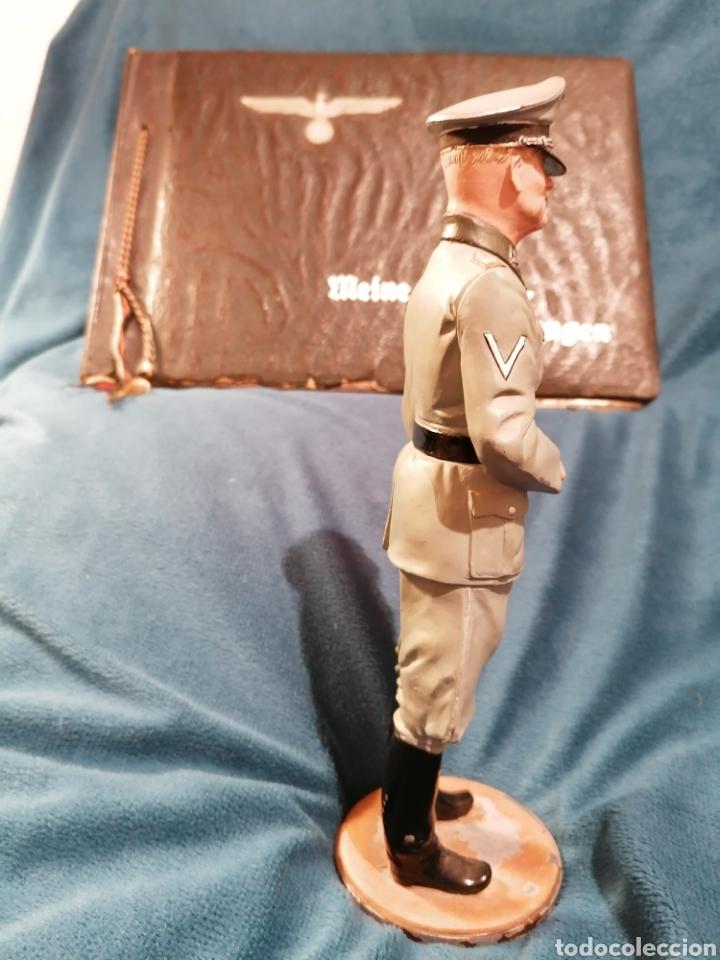Militaria: GRAN FIGURA DE PLOMO OFICIAL ALEMAN DE LAS SS. WWII. FIRMADA DE PRADO 91 - Foto 5 - 189295441